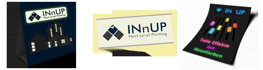 INnUP Ideenbox - Sichtbar im Dunkeln mit gedruckten Leuchtfarben